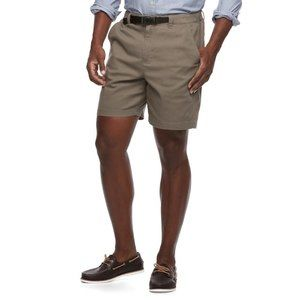 Croft & Barrow Classic-Fit Belted Cargo Shorts New